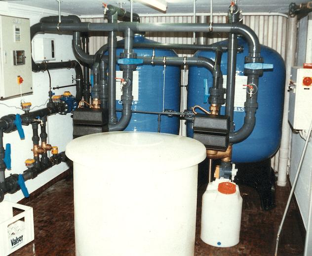 Wasserenthärungsanlage freistehend